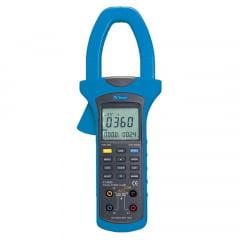 Alicate Wattímetro Trifásico CAT IV - True RMS c/ Data Logger-USB - ET-4055A