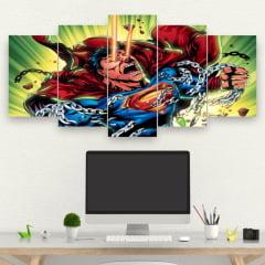 Kit 5 Quadros Superman HQ