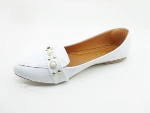 a669a4387b ... Sapatilha Mocassim Feminino Branca Perolas Mirian Shoes ...