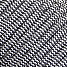 Corda Semi Estática 11mm Preta e Branca CE EN NR NBR