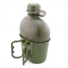Kit Cantil Plástico 900ml com Caneco Porta Cantil Verde Oliva