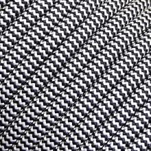 Corda Semi Estática 10mm Preta e Branca CE EN NR NBR