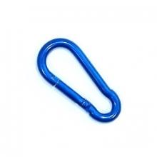 Mini Mosquetão Chaveiro Gota 52mm Aço Pintado Azul