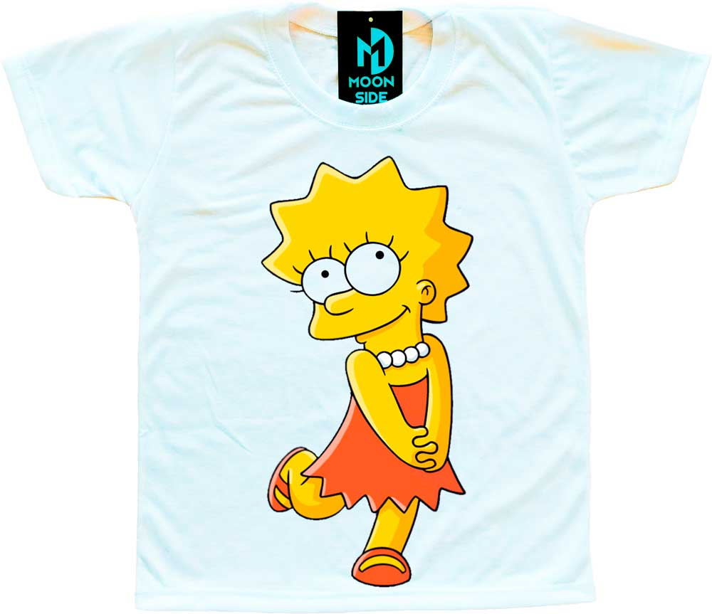 Camiseta Infantil Os Simpson's Lisa Simpson