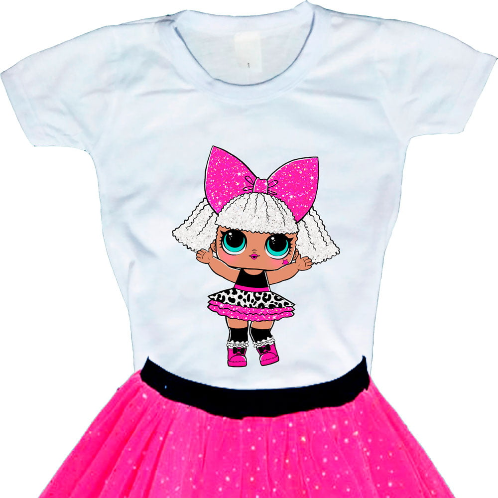 Camiseta Boneca Lol Surprise Diva (Glitter)