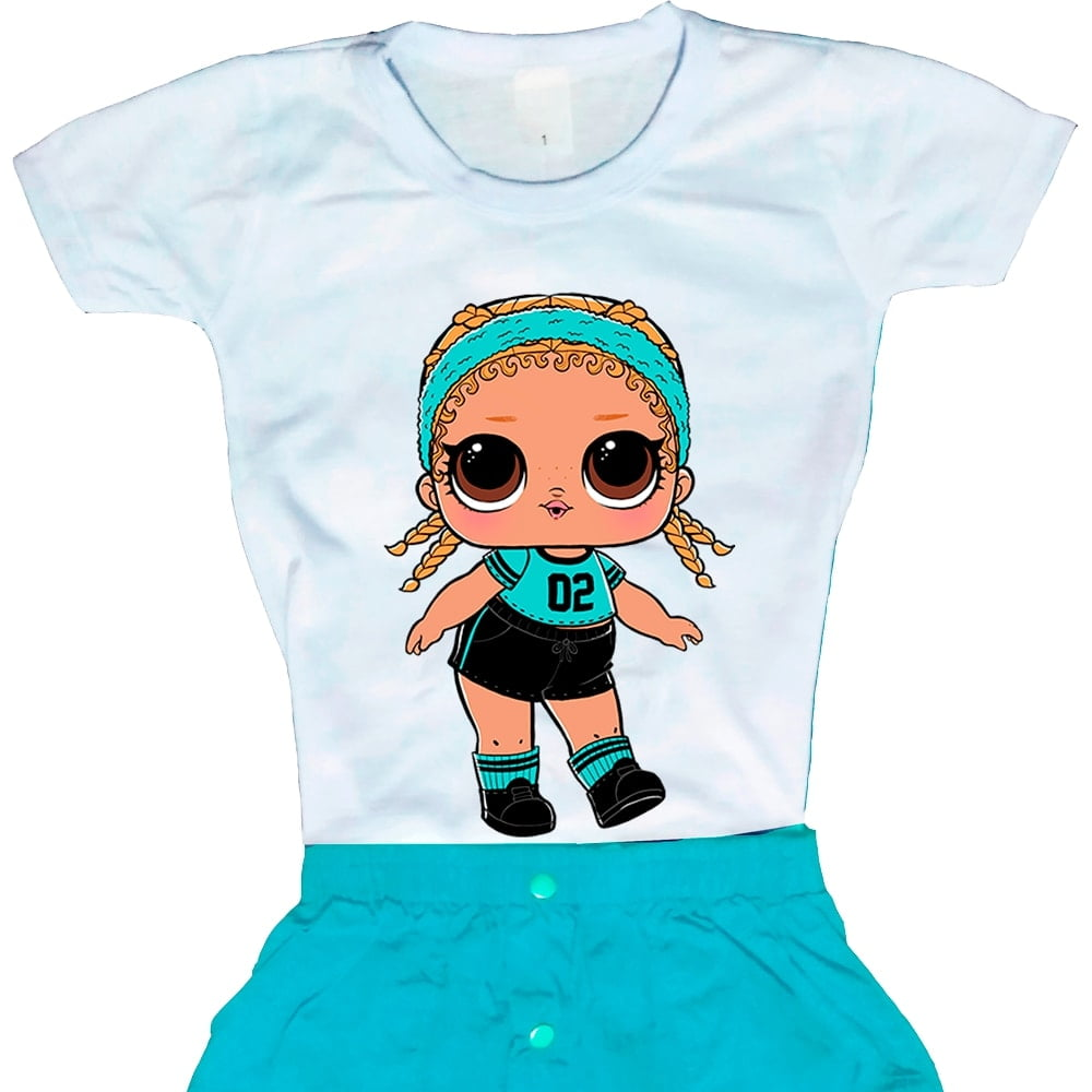 Camiseta Boneca Lol Surprise Kicks
