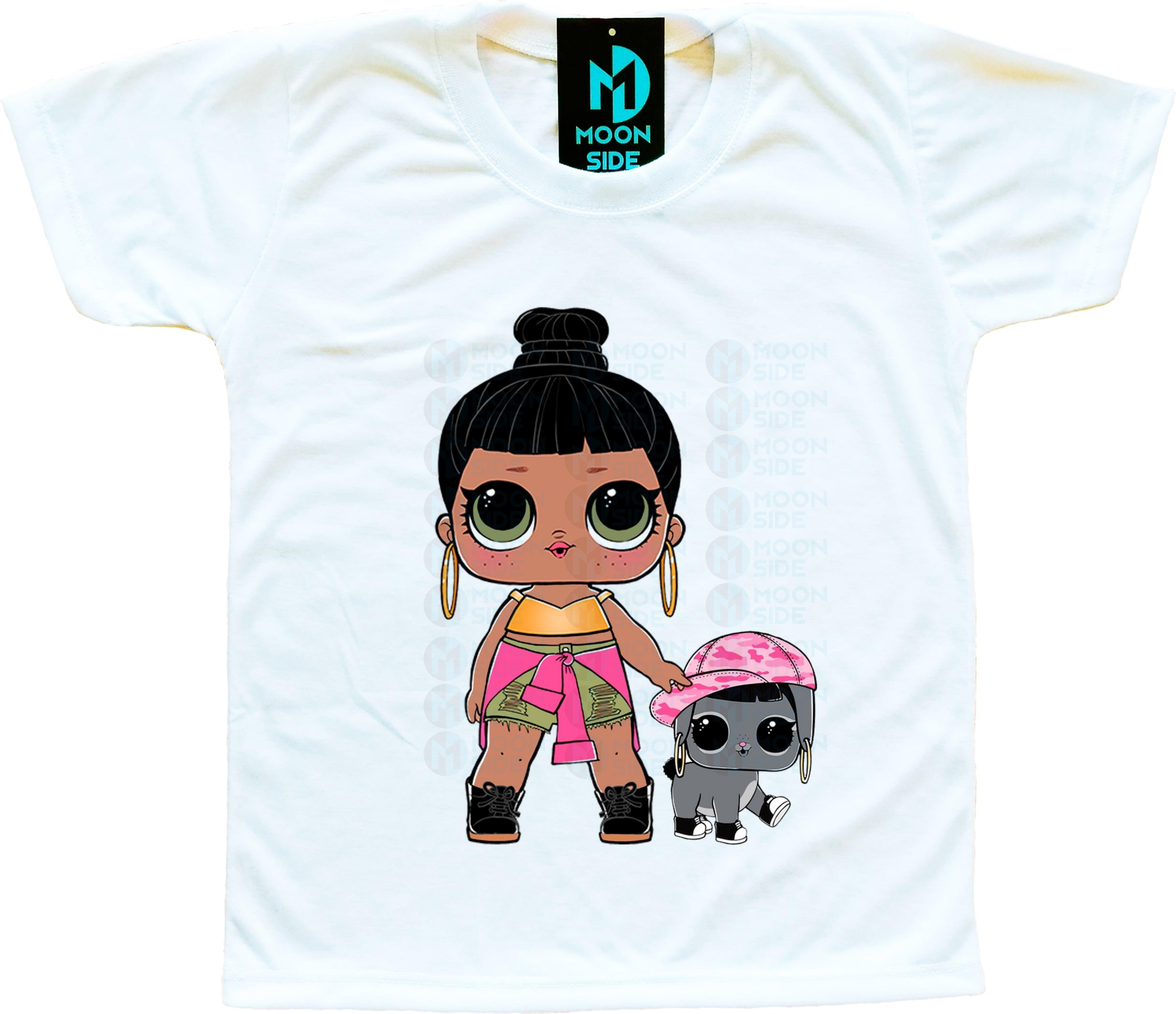 Camiseta Lol Surprise Honey Bun e Pet Bunny Hun