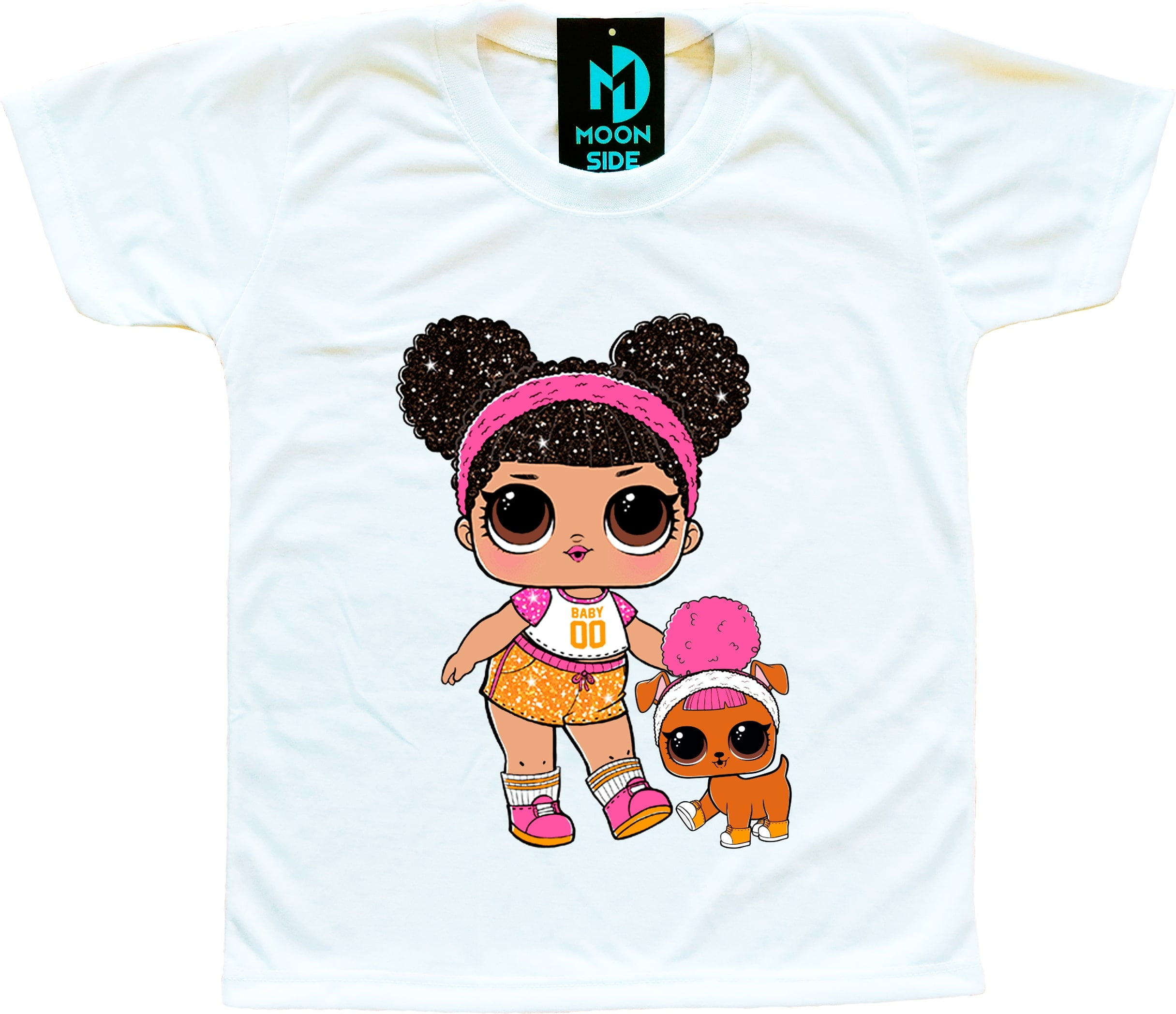 Camiseta Lol Surprise Hoops e Pet Hoops D.O.G.G
