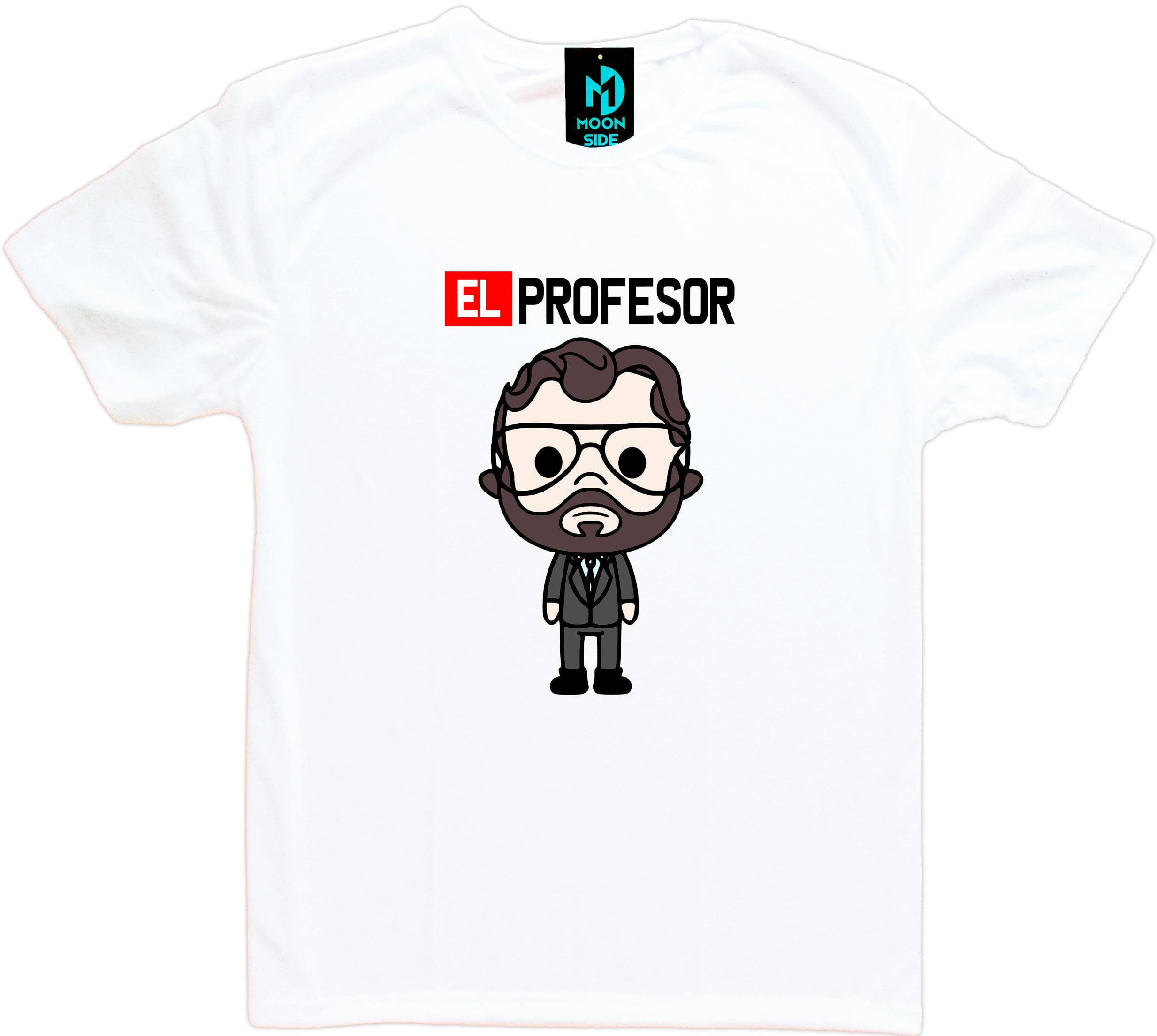 Camiseta La Casa De Papel El Professor Boneco