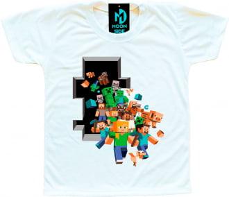 Camiseta Infantil Minecraft Modelo 2