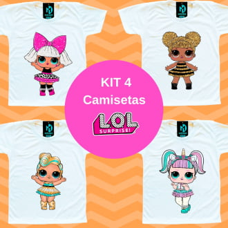 Kit 4 Camisetas LOL Surprise Mais Vendidas