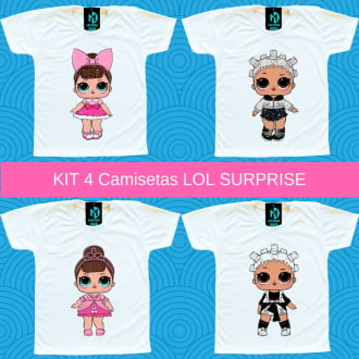 Kit 4 Camisetas LOL Surprise Opposites Club - Fancy e Fresh