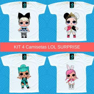 Kit 4 Camisetas LOL Surprise Storybook Club - Alice no País das Maravilhas
