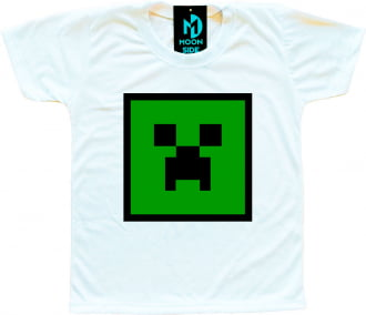 Kit 4 Camisetas Minecraft infantil