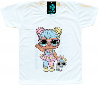 Camiseta Lol Surprise Bon Bon e Pet Hop Hop