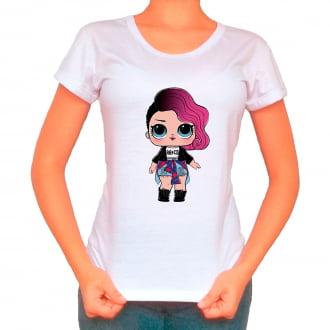 Camiseta Boneca Lol Surprise Rocker - Adulto