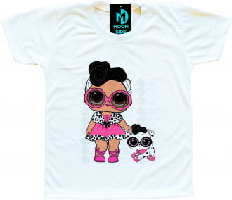 Camiseta Lol Surprise Dollface e Pet Dollmation
