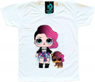 Camiseta Lol Surprise Rocker e Pet Ruff Rocker