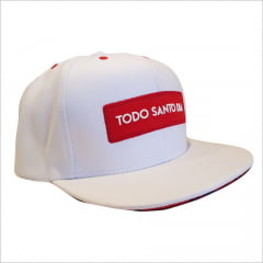BONÉ SNAPBACK ABA RETA RED AND WHITE LUXURY