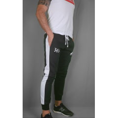 CALÇA TRACK PANT TSD BLACK AND WHITE
