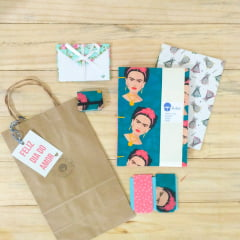 Kit Frida Cadernos + porta post it + envelopes +marcador de página