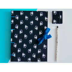 Kit Caderno Sketchbook Cachorro Pug