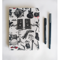 Caderno Sketchbook Rock