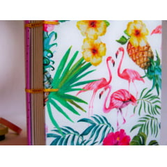 Caderno Sketchbook Tropical Flamingo