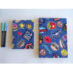 Caderno Sketchbook Grande Patches