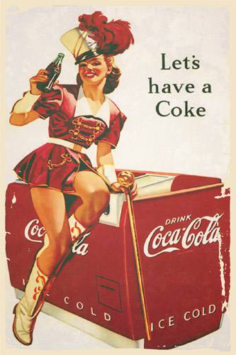 Placa Decorativa Vintage Retro Let´s have a Coke PDV068