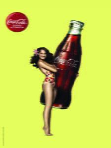 Placas Decorativas Coca Cola Girl PDV377