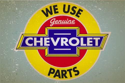 Placa Decorativa Retro Carros Chevrolet Parts PDV047