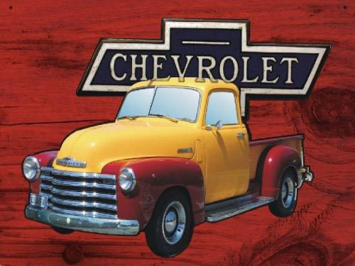Placa Decorativa Retro Carros Chevrolet pickup PDV041