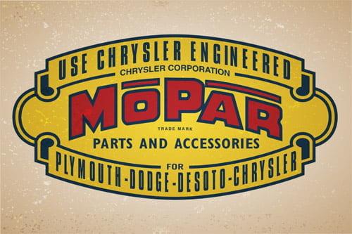Placa Decorativa Vintage Carros Mopar Parts PDV221