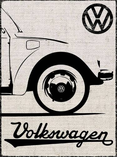 Placa Decorativa Vintage Carros Volkswagen PDV190