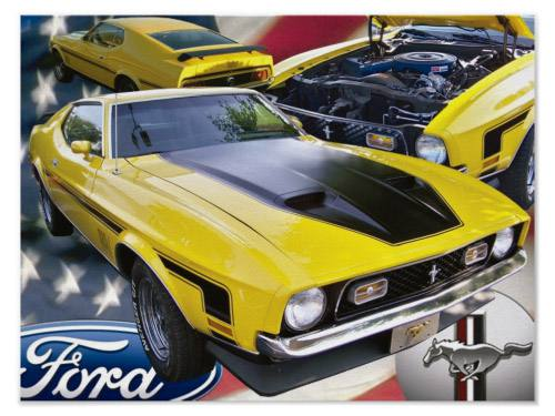 Placa Decorativa Vintage Carros Ford Mustang PDV205