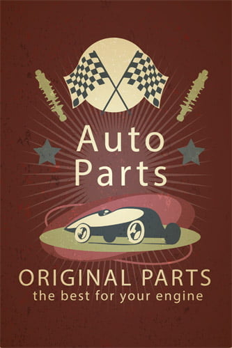 Placa Decorativa Vintage Carros Auto Parts PDV215