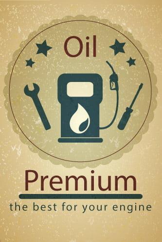 Placa Decorativa Vintage Carros Oil Premium PDV223