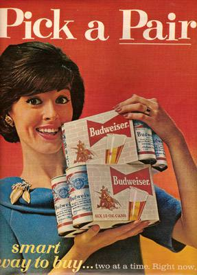 Placa Decorativa Budweiser Pick a Pair Retro Vintage PDV264