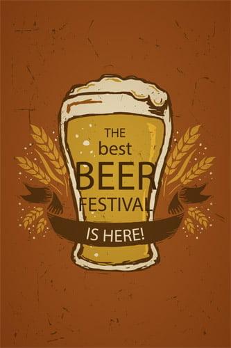 Placa Decorativa Retro Cerveja Beer Festival Is Here PDV018