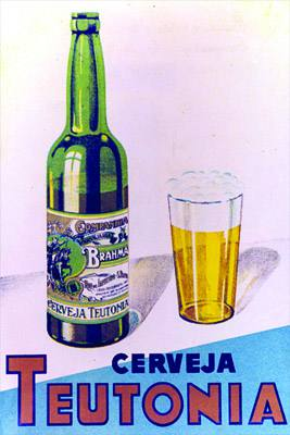 Placa Decorativa Cerveja Teotonia Brahma Retro Vintage PDV249