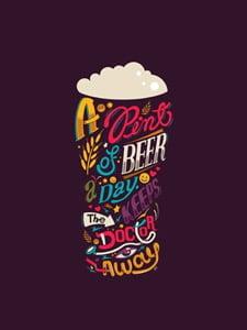 Placas Decorativas Cerveja Pent of Beer PDV340