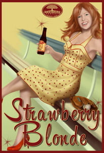 Placas Decorativas Cerveja Strawberry Blonde Beer PDV364