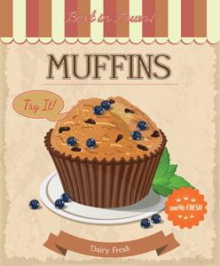 Placa Decorativa Cozinha Muffins PDV516