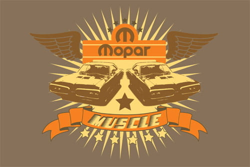Placa Decorativa Vintage Retro Mopar Muscle PDV071