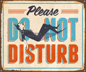 Placas Decorativas Frases Ingles Do Not Disturb PDV311