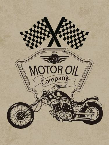 Placa Decorativa Vintage Retro Motor Oil Company PDV116