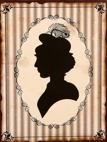 placa decorativa vintage retro mulher woman wc pdv138. Black Bedroom Furniture Sets. Home Design Ideas