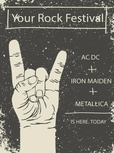 Placa Decorativa Vintage Retro Your Rock Festival PDV123