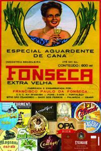 Placas Decorativas Propagandas Antigas Aguardente Fonseca PDV447